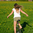 Unicycle and field — Stock Photo #8047100