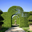 Stock Photo: Arched shrubs gardens of eyrignac, france