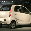 "New Tata Car ""Nano"" at Autoexpo in Delhi, India — Stock Photo"