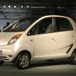 "Stock Photo: New TatCar ""Nano"" at Autoexpo in Delhi, India"
