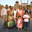 Indian family at the red fort, delhi, india — Stock Photo #8047315