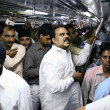 Delhi metro passengers — Stock Photo
