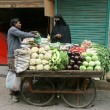 Man selling vegetables, delhi, india — Stock Photo