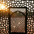 Patterned lattice ironwork - Stock Photo