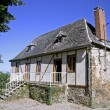 Stock Photo: Newly renovated old bard in correze, france