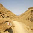 Desert landscape in the dead sea region — Stock Photo