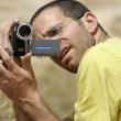 Stock Photo: Bird watcher sede boker desert, israel