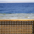 Stock Photo: Wooden beach partition, red sea, sinai, egypt