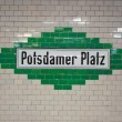 Potsdamer platz plaque — Stock Photo #8048124