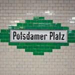 Potsdamer platz plaque — Stock Photo