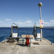 :Petrol fuelling station on mediterranean seaside, croatia — Stock Photo #8048280