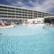Luxury hotel and swimming pool on the island of Brac in Croatia - Stock Photo