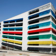 Colourful car park - Stock Photo