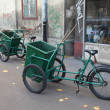 Two bicycle sweepers — Stock Photo