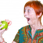 Losing your false teeth — Stock Photo