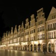 Munster principalmarkt at night, germany - Stock Photo