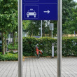 Stock Photo: Taxi and bus sign