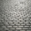 Cobbled street in europe — Stock Photo