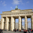 Brandenburg gate on a sunny day — Stock Photo