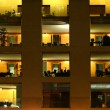 Stock Photo: Offices at night, berlin, germany