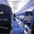 Stock Photo: Rows of seats in airplane