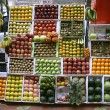 Fruit stall on footpath, mumbai, india - Stock Photo