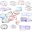 Visa stamps — Stock Photo #8049130