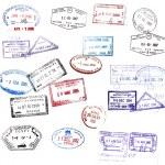 sellos de Visa — Foto de Stock