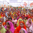 A gathering of brahmin women during — Stock Photo