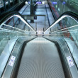 Descending escalator in a public transport area — Stock Photo