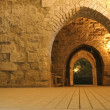 Knight templer tunnel jerusalem israel — Stock Photo