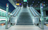 Stair and escalators in a public area — Stock Photo