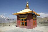 Tibetan monastery in muktinath, annapurna circuit, nepal — Stock Photo