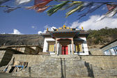 Monastery in upper pisang, annapurna, nepal — Stock Photo