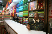 Inside the fabric showroom, delhi, india — Stock Photo