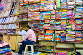 Male shopkeepers-fabric — Stock Photo