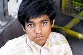 Young boy street portrait — Stock Photo