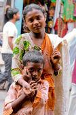 Two children begging — Stock Photo