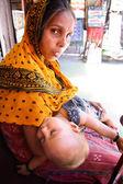 Woman beggar — Stock Photo