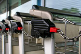 Trolleys chained — Stock Photo