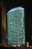 Illuminated building at night, berlin, germany — Stock Photo