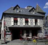 Restaurant in old stonesbuilding — Stock Photo