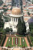 View over bahai gardens haifa israel — Stock Photo