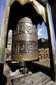 ネパールのアンナプルナ周回の祈りホイールの装飾 — ストック写真