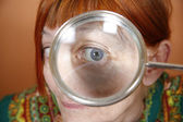 Magnified eye — Stock Photo