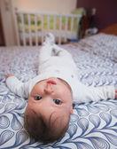 Dziecko na plecy — Zdjęcie stockowe