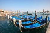 Gondole a venezia — Foto Stock