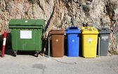 Recycling bins — Stock Photo