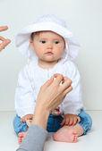 Baby sitting — Stock Photo