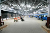 Delhi train station interior — Foto Stock